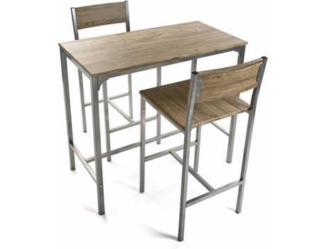 Conjunto Mesa 2 Cadeiras Versa Madeira Wortenpt