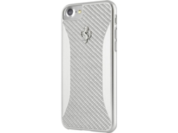 Capa FERRARI Case iPhone 7 Plus, 8 Plus Prateado — Compatibilidade: iPhone 7 Plus, 8 Plus
