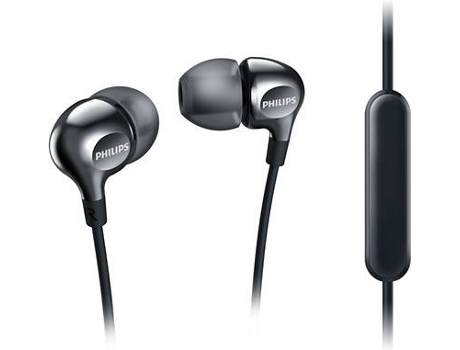 Auriculares PHILIPS SHE3705BK/00 — 16Ohm / 105Db / Microfone incorporado