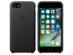 Capa APPLE Leather iPhone 7, 8 Preto — Compatibilidade: iPhone 7, 8