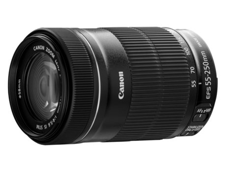 Objetiva CANON EF-S 55-250 mm f/4-5.6 IS STM — Abertura: f/4-5.6