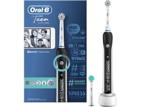 Escova de Dentes Elétrica ORAL B Teen Preto (8.800 rpm) | [6786865 ]