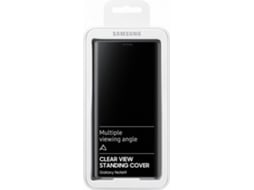 Capa SAMSUNG Galaxy Note 9 Clear View Castanho — Compatibilidade: Samsung Galaxy Note 9