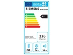 Frigorífico Combinado SIEMENS iSensoric KG36VVW32S — A++ | Low Frost | Refr. 213 L Cong. 94 L