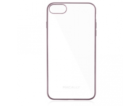 Capa MACALLY Clear iPhone 7, 8 Rosa — Compatibilidade: iPhone 6, 6s, 7 ,8