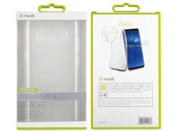 Capa MUVIT Crystal Soft Samsung Galaxy Note 8 Transparente — Compatibilidade: Samsung Galaxy Note 8
