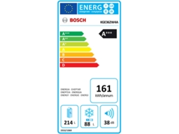 Frigorífico Combinado BOSCH KGE362W4A — A+++ | Low Frost | Refr. 214 L Cong. 88 L