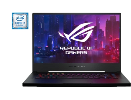 Portátil Gaming ASUS ROG Zephyrus M GU502GU-79DT6PB1 (Intel Core i7-9750H - NVIDIA GeForce GTX 1660 Ti - RAM: 16 GB - 512 GB SSD - 15.6'') — Windows 10 Home