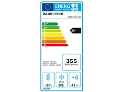Frigorífico WHIRLPOOL T TNF 8111 OX — A+ | No Frost | Refr. 326 L Cong. 110 L