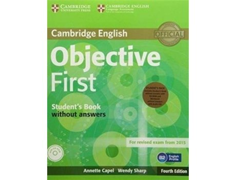 CAMBRIDGE - Cambridge Bloco Pedagógico Objective First! (Inglês)