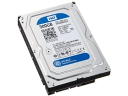 Disco HDD Interno WESTERN DIGITAL 500GB CAVIAR BLUE WD5000AZLX (500 GB - SATA - 7200 RPM) — 3.5'' | 500 GB | SATA3 6 Gb/s