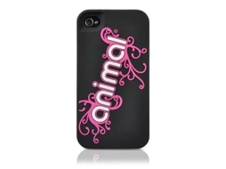Capa CONTOUR DESIGN Silicone iPhone 4 Black/Pink — Capa / iPhone 4