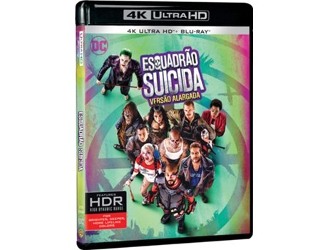 Blu-Ray 4K + Blu-Ray Esquadrão Suicida — De: David Ayer / Com: Will Smith, Jared Leto, Margot Robbie