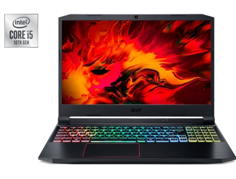 Portátil Gaming ACER Nitro 5 AN515-55-528F (Intel Core i5-10300H - NVIDIA GeForce GTX 1650 - RAM: 8 GB - 512 GB SSD PCIe - 15.6'') — Windows 10 Home