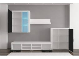 Móvel TV INNOVATION HOME FURNISH 1GAMMABLANCONEGRO (Branco - Melamina e MDF - 290x200x45 cm)