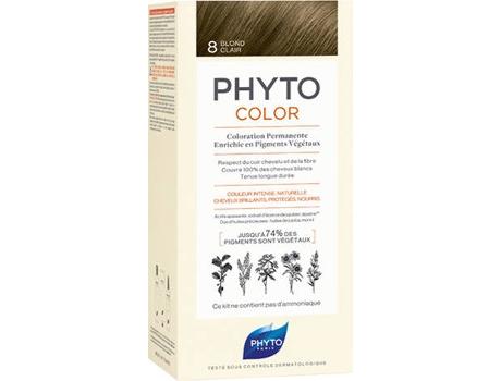 Coloração PHYTO Phytocolor 8 Louro Claro Coloração Permanente Sem Amoníaco