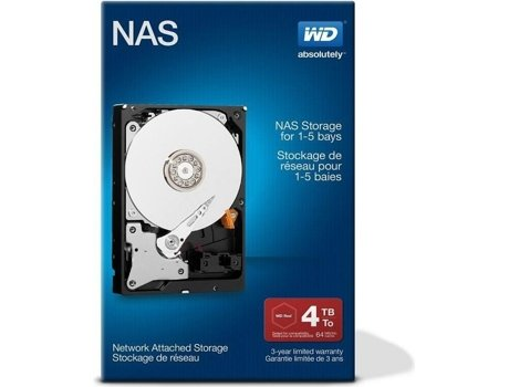 Disco Interno 3.5'' WD 4TB RED NAS NETWORK — 3.5'' | 4 TB | SATA III