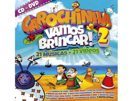 CD+DVD Carochinha - Vamos Brincar Vol. 2 — Infantil