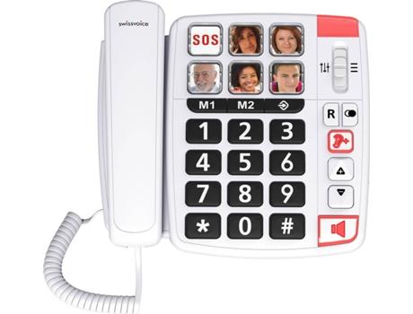 Telefone SWISSVOICE Xtra 1110 Branco | [6841342 ]