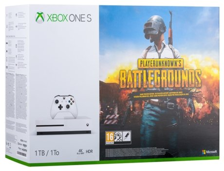 Consola X Box One S 1TB + Jogo Playerunknown¿s Battlegrounds — 1 TB