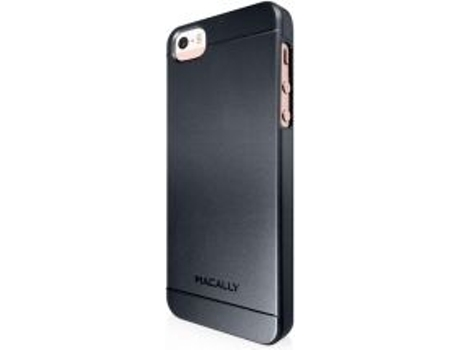 Capa MACALLY Snap-On iPhone 5/5S/Se Preto — Capa / iPhone 5/5S/Se