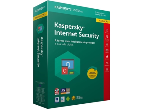 Software KASPERSKY Internet Security 2018 3 Users  Renewal — Software | Segurança
