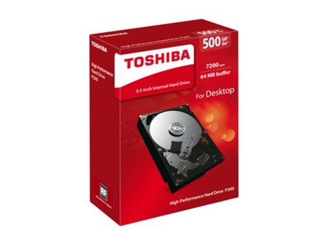 Disco HDD Interno TOSHIBA P300 (500 GB - SATA - 7200 RPM) — 2.5'' | 500 GB | SATAIII