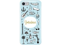 Capa LOVELY STREETS Viagem Barcelona iPhone 7, 8 — Compatibilidade: iPhone 7, 8