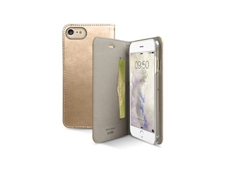 Capa SBS Book Gold Collection iPhone 7, 8 Dourado — Compatibilidade: iPhone 7, 8