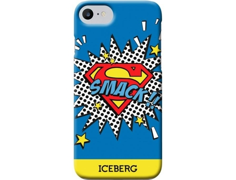 Capa ICEBERG Superman iPhone 6/6s/7 Smack — Compatibilidade: iPhone 6/6s/7