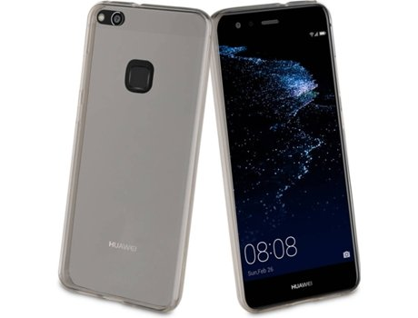 Capa MUVIT Crystal Soft Huawei P10 Lite Cinza — Compatibilidade: Huawei P10 Lite