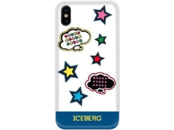 Capa ICEBERG Puffy Patch Comic iPhone X Azul — Compatibilidade: iPhone X