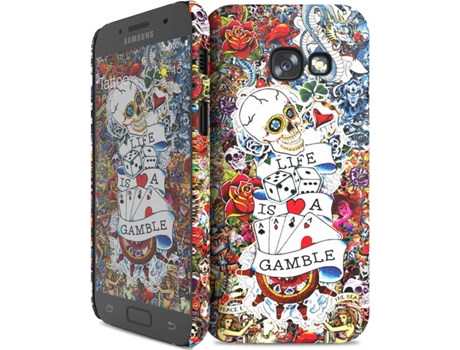 Capa I-PAINT Tattoo Samsung Galaxy A3 2017 Multicor — Compatibilidade: Samsung Galaxy A3 2017