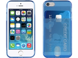Capa MUVIT Life Flúor iPhone 5, 5s, SE Azul — Compatibilidade: iPhone 5, 5s, SE