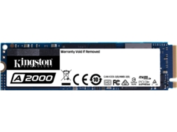 Disco SSD Interno KINGSTON A2000 (250 GB - PCI-Express - 2000 MB/s) — M.2 2280, NVM3 PCIe, leitura 2000/1100 MB/s