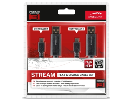 Kit Cabos SPEEDLINK PS3 STREAM PLAY & CHARGE — PS3