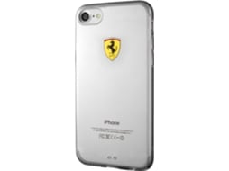 Capa Tpu FERRARI Racing iPhone 7 Transparente — Compatibilidade: iPhone 7