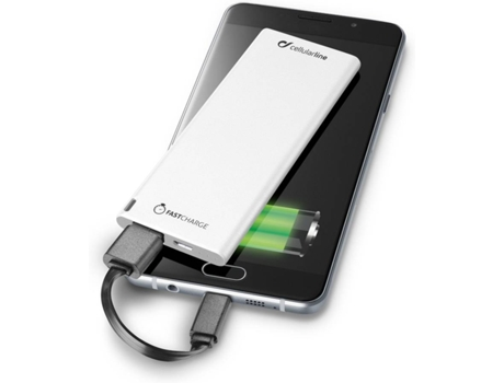 Powerbank CELLULAR LINE Freepslim Ultra Slim 3000 mAh Branco — 3000 mAh
