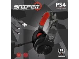 Kit PS4 Sniper 2018 (Auscultadores + Grips + Cabo) — PS4