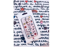 Capa SILVIA TOSI Stickers Angel iPhone X, XS Multicor — Compatibilidade: iPhone X, XS