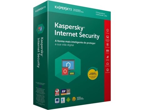 Software KASPERSKY Internet Security 2018 3 Users — Software | Segurança