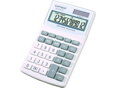Calculadora Básica de secretária CATIGA CD-2716-12RP-SR | [6195788 ]