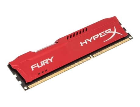 Memória RAM DDR3 8GB 1600 MHz CL10 HyperX FURY Red Series — 8 GB | 1600 MHz | DDR3