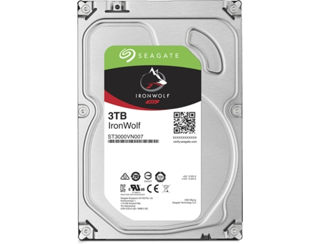 Disco Interno 3.5'' Seagate 3TB IRONWOLF — 3.5'' / 3 TB / Serial ATA III