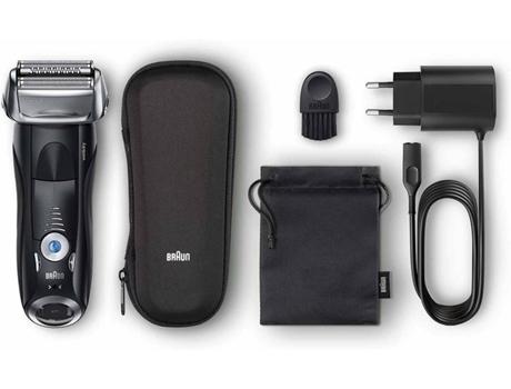 Máquina de Barbear BRAUN 7842S Preta (Autonomia 50 Min - Mista) | [6739170 ]