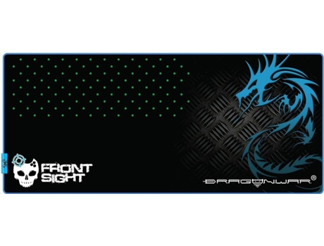 Tapete Gaming DRAGON WAR Profissional GP4 Frontsight XXL — Preto e Azul