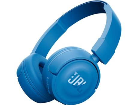 Auscultadores Bluetooth JBL T450 (On Ear - Microfone - Azul) — On Ear | Microfone | Atende chamadas