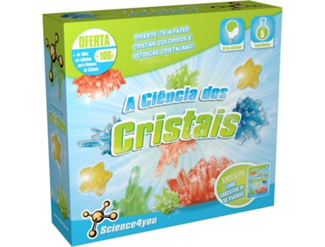 Kit SCIENCE4YOU A Ciência dos Cristais — Science4You