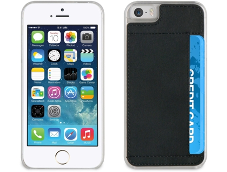 Capa MUVIT Crystal Soft iPhone 5, 5s, SE Preto — Compatibilidade: iPhone 5, 5s, SE