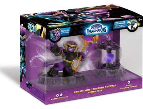 Figura Skylanders Imaginators Combo Pack - Sensei: Master Mysticat and Magic Creation Crystal — Coleção: Skylanders Imaginators